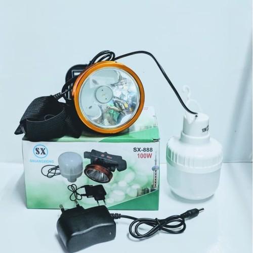 Foto Produk Senter kepala sx-888 lithium bonus bohlam dari grosirltc