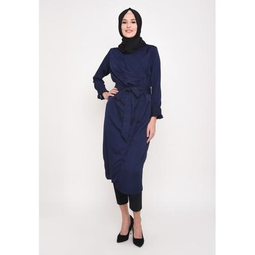 Foto Produk Heaven Sent - Tunik Muslim Wanita Syahira Navy - S dari Heaven Sent Official