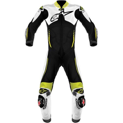 Foto Produk Alpinestars Atem Leather Racing Suit Original - White Black Yellow 48 dari Helm Cargloss