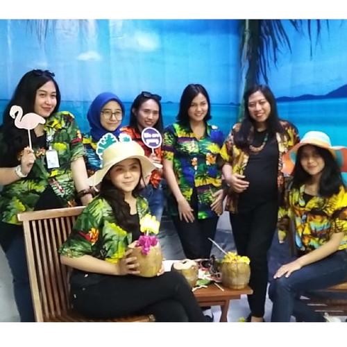 Foto Produk baju pantai hawaii kemeja pantai bali wanita dan pria hawaii - M, Biru dari MILOSE_OL STORE