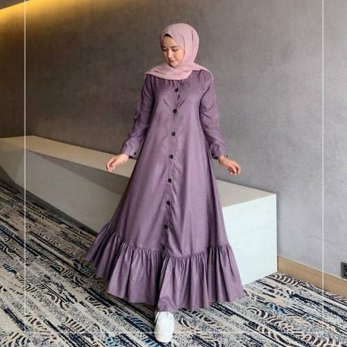 Foto Produk Baju Gamis Terbaru Peony Dress muslim Wanita - Ungu, All Size dari look180