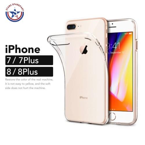 Foto Produk iPhone 7 8 7 Plus 8 Plus Transparan Bening Soft Case Perfect Fit - iPhone 8 dari Stars Sparepart