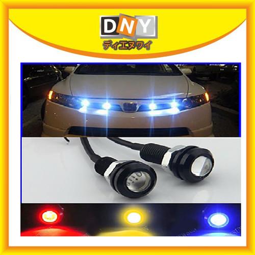 Foto Produk LAMP DRL LED MATA ELANG EAGLE EYE 12V 23 MM LAMPU DEKORASI MOBIL MOTOR - Putih dari DNY Official Store