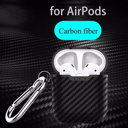 Foto Produk APPLE Airpods 1 2 Airpod Carbon Fiber Case Hook Cover casing dari Rkaseshop