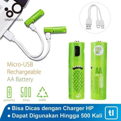 Foto Produk Smartoools Baterai AA Micro USB rechargeable dari Glodok VCD
