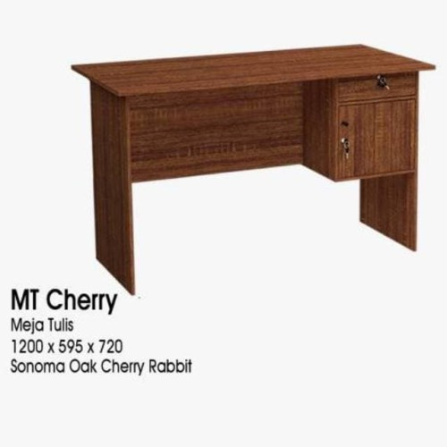 Foto Produk meja kerja / Kantor / belajar / kasir 1/2 biro GSTAR 60 X 120 cm - Mt Cherry dari WONDERLAND FURNITURE