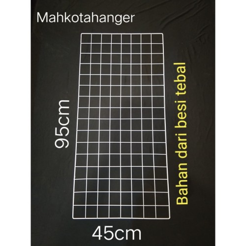 Foto Produk Jaring Ram Besi Dinding Ukuran 45cmx95cm Gantungan hook ram display dari MahkotaHangerJaya