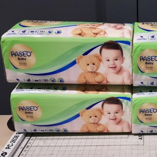 Foto Produk Facial Tissue Paseo Baby Pure Soft 1 pack x 130 Sheets 3 ply dari Caliesta E-Shop