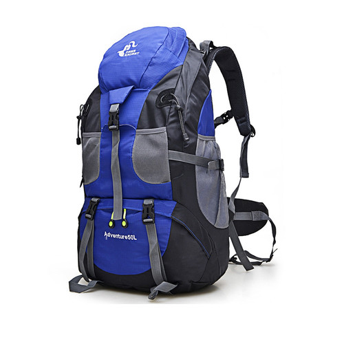 Foto Produk FREEKNIGHT 50L Tas Gunung Hiking Travel Climbing Backpack TFK02 - Biru dari Freeknight