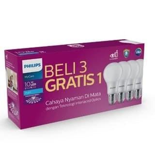 Foto Produk Lampu LED Bulb Bohlam PHILIPS Paket 10 Watt Mycare Pack 10W Multipack dari Bardi Solusi Otomasi