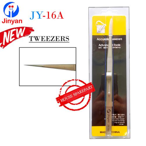 Foto Produk Jinyan Pinset Tweezers Lurus Tajam JY-16A Stainless Steel Original dari HOUSE SPAREPART