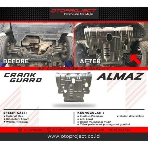 Foto Produk Crank Guard / Cover Pelindung Bawah Mesin Otoproject Wuling Almaz dari Mega Oriental Motor