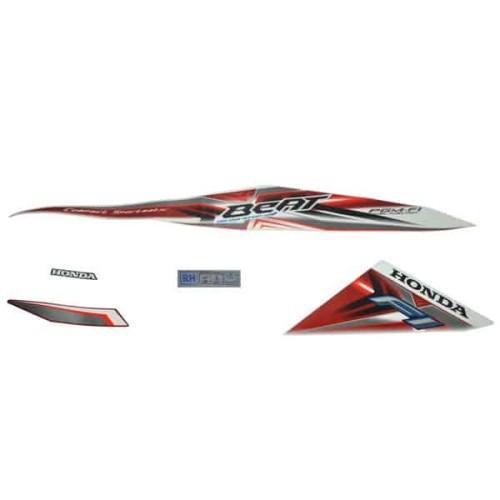 Foto Produk Stripe Set R White Red - BeAT Sporty eSP (K25) (871X0K25610ZCR) dari Honda Cengkareng