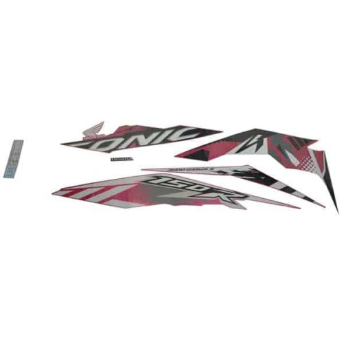 Foto Produk Sticker Body Kiri (Stripe Set L) Magenta White - Sonic 150R K56 dari Honda Cengkareng