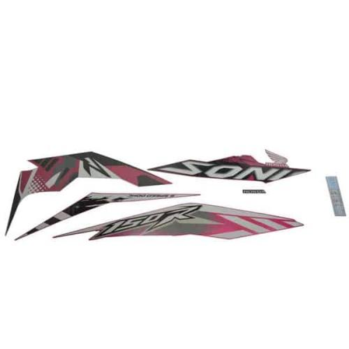 Foto Produk Sticker Body Kanan (Stripe Set R) Magenta White - Sonic 150R K56 dari Honda Cengkareng