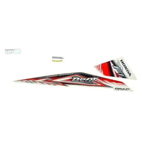Foto Produk Sticker Body Kanan (Stripe Set R White Red) - BeAT FI dari Honda Cengkareng