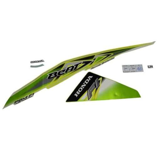 Foto Produk Sticker Body Kiri Green White - BeAT FI (K25) (871X0K25900ZEL) dari Honda Cengkareng