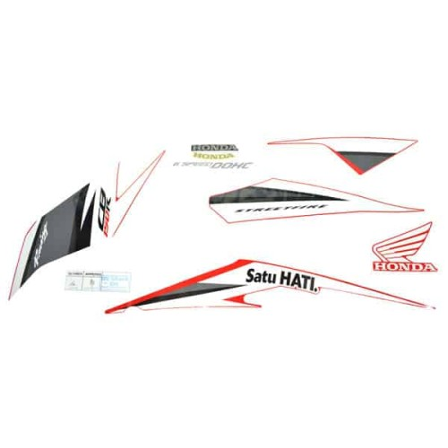 Foto Produk Sticker Body Kiri (Stripe Set L) Winning Red - CB150 StreetFire K15M dari Honda Cengkareng