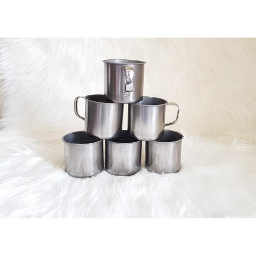 Foto Produk Gelas Stainless Steel Mini 7cm Eceran Cangkir Mug Kecil Teh Kopi Jahe dari Digital Best
