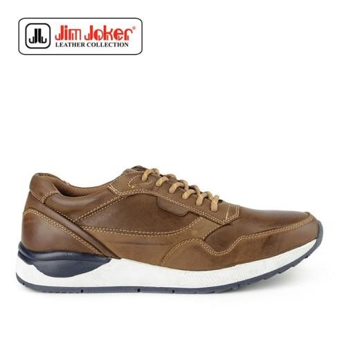 Foto Produk Sepatu Jim Joker Pria Dofy 1C Leather Brown Original dari Modsos