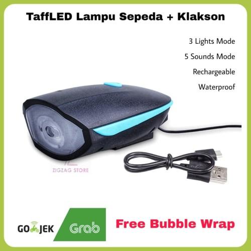 Foto Produk Senter Sepeda Depan + Klakson Waterproof TaffLED dari ZigZag-Store