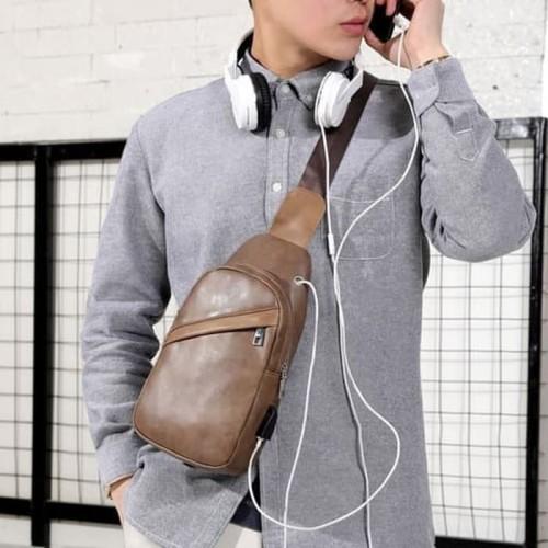 Foto Produk Tas Selempang Kulit Pria / Waistbag PU Leather Premium dari PITUDUS
