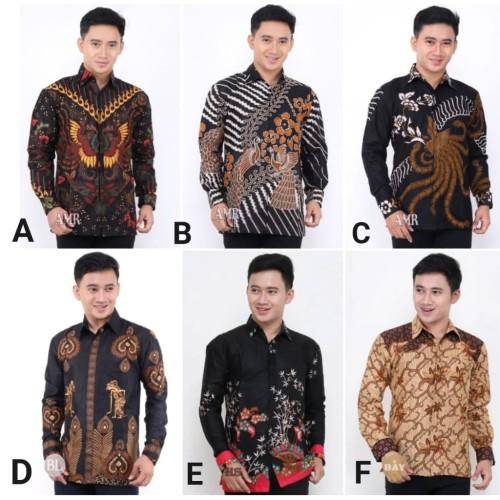 Foto Produk Kemeja Batik Pria Lengan Panjang 2 Baju Batik Pria Batik Cowok dari Nani Batik Pekalongan