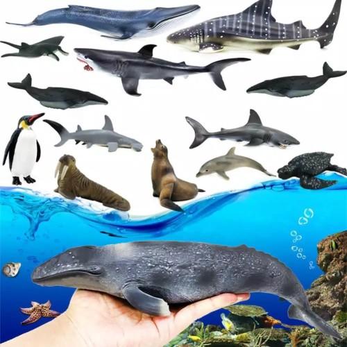 Foto Produk 12pc mainan hewan laut/seaworld/ikan laut dari hadysell