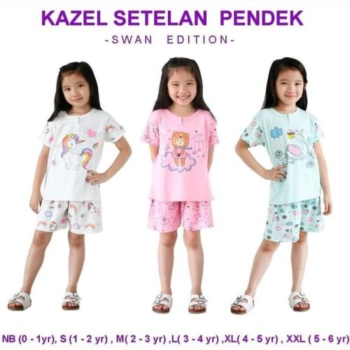 Foto Produk Kazel - Setelan Pendek SWAN Edition - NEWBORN dari Chubby Baby Shop