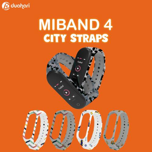 Foto Produk Mijobs Miband 4 3 City Series Silicone Strap Gelang Mi Band 4 - Grey Car dari Dua Hari Jakarta