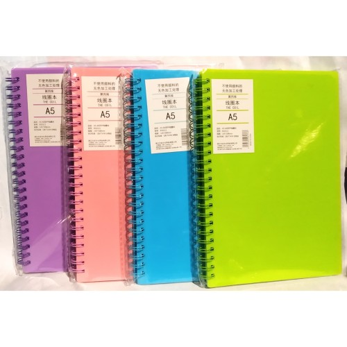 Foto Produk Notebook Spiral A5 THE COIL B10111 WARNA dari Dante