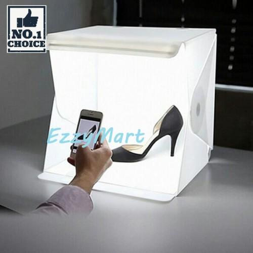 Foto Produk PHOTOBOX + LED Photo Studio Mini Box Portable Lampu Kotak Lipat dari EzzyMart JAKARTA