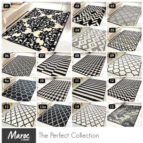 Foto Produk [Carpet Shop ID] Karpet Skyrugs 100x150 (monochrome design) - KODE 01 dari Carpet Shop Indonesia