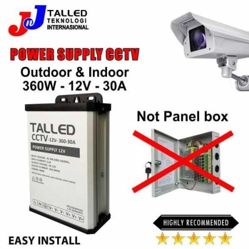 Foto Produk POWER SUPPLY CCTV BOX 12V 360W 12A OUTDOOR- INDOOR GARANSI 1 TH TALLED dari JNJ Talled