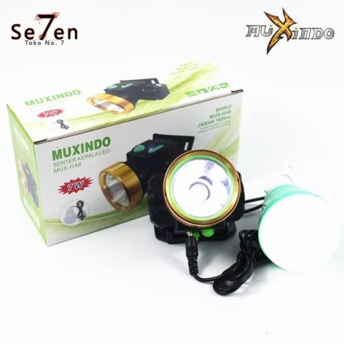 Foto Produk Senter Kepala LED Bonus Bohlam Lampu Emergency G48 - Putih dari Toko No.7