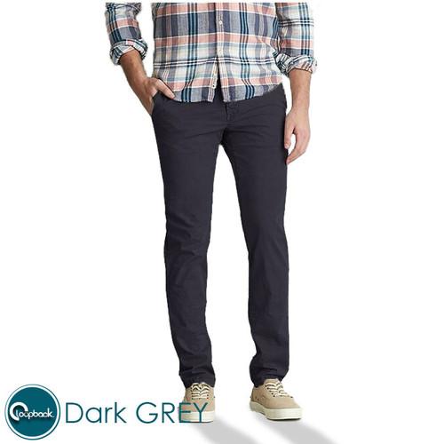 Foto Produk Celana Chino Slim Fit - Celana Panjang Pria Premium Dark Grey - Dark grey, 29 dari Loopback Shop