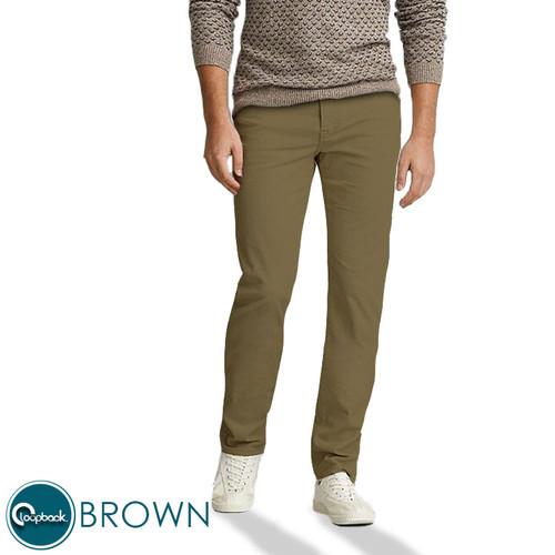 Foto Produk Celana Chino Slim Fit - Celana Panjang Pria Premium Brown - Brown, 27 dari Loopback Shop