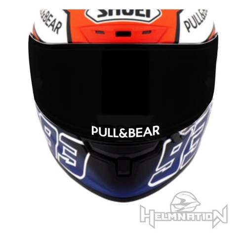 Foto Produk Stiker Visor Kaca Helm Pull&Bear Cutting Sticker - Kuning dari @helm_nation