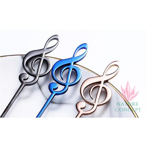 Foto Produk Sendok Unik Musical Note Sendok Anak Teh Kopi Gift SILVER - Rose Gold dari Nature Concept