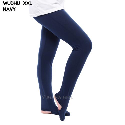 Foto Produk Monellina Fashion Celana Legging Wudhu XXL Jumbo Murah Wanita Kekinian - Navy, L dari Monellina Fashion