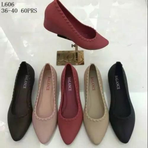 Foto Produk Sepatu Jelly Shoes Import Balance Sepatu karet Wedges flatshoes murah dari Gracia OS