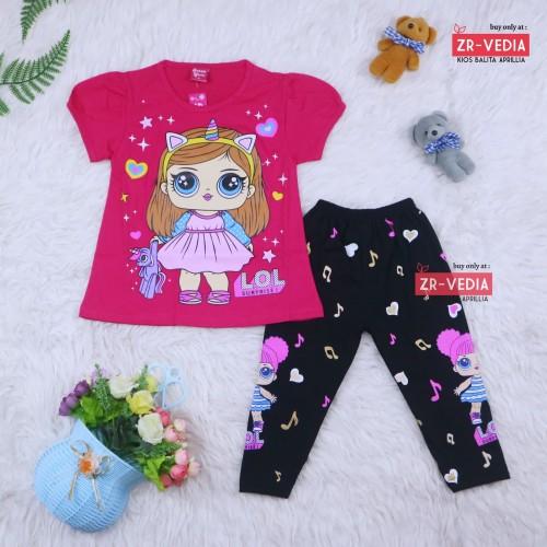Foto Produk Setelan LOL uk 2-3 Tahun / Baju Anak Karakter Perempuan Import - Motif Worm Zone dari ZR-Vedia