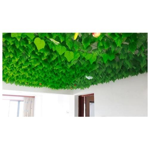 Foto Produk Daun Anggur Besar 2m / Daun Rambat Plastik Hiasan Dinding Artificial dari Menyala