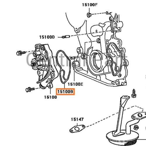 Foto Produk O Ring Pompa Oli untuk Toyota Crown GS131 dari Central Part