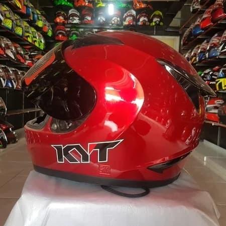 Foto Produk Helm KYT R10 Solid Black Metallic full face dari Revival Store