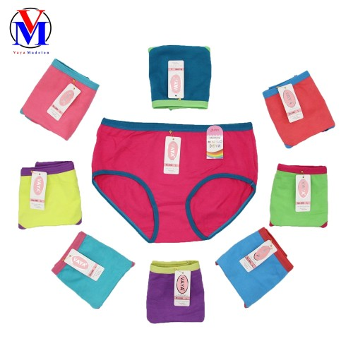 Foto Produk Celana Dalam Wanita VAYA Art 988 Rainbow - Hijau Lis Merah, L dari VAYA MADELON