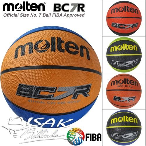 Foto Produk Official Basketball Molten BC7R - FIBA Size No 7 Bola Basket Game Ball dari ISAK Billiard Sport Co.