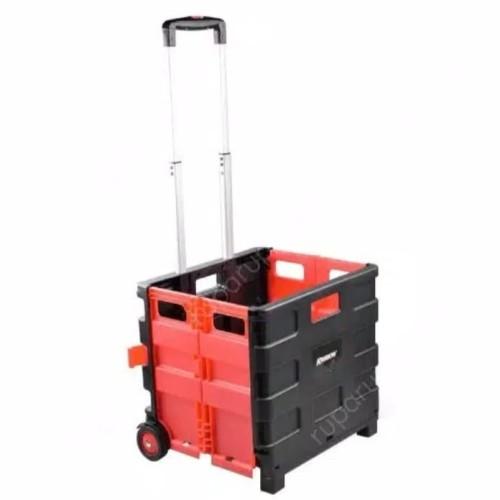 Foto Produk KRISBOW Troli Galon / Troli Lipat /Troli Barang Lipat Portabel 25 Kg - Merah dari koit'z cell