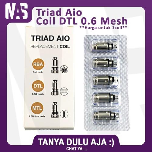 Foto Produk Cartridge Triad Aio DTL 0.6 Ohm Mesh Authentic Coil OCC Pod Pods Vapor dari NAS VIRTUAL