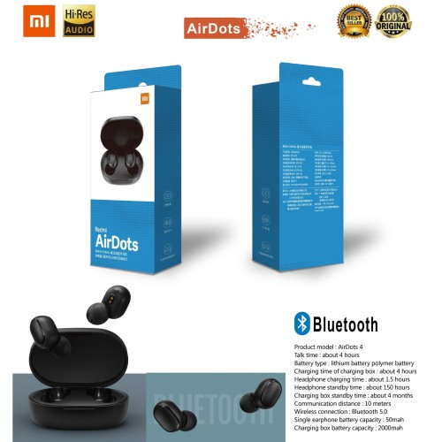 Foto Produk Xiaomi Airdots TWS Headset Bluetooth 5.0 Wireless Earphone Stereo Bas dari King accs